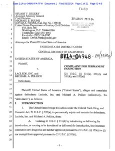Luvena FDA Complaint