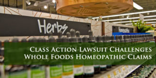 Class Action Homeopathic Whole Foods