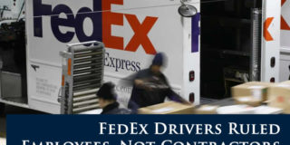 FedEx Drivers Ruled Employees