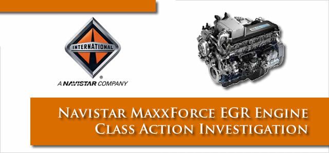 Navistar Lawsuit re Maxxforce Engines