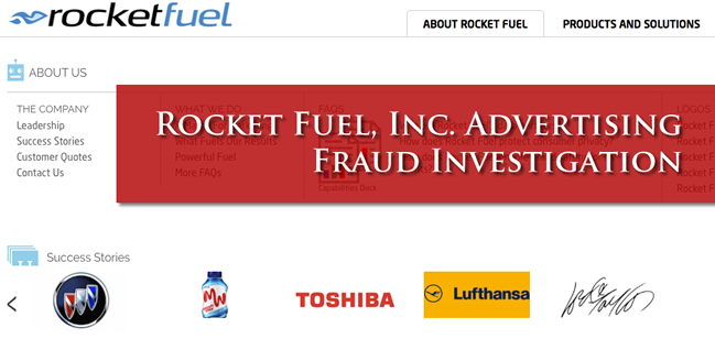 Rocket Fuel Lawsuit Investigation re: Ad Fraud