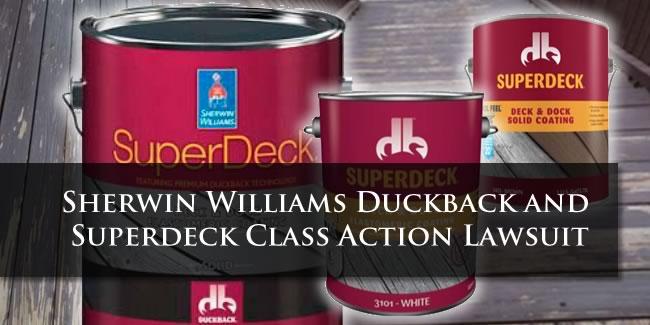 sherwin williams duckback lawsuit