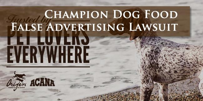 Champion Dog Food Lawsuit