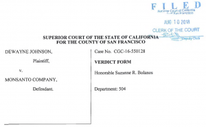 Monsanto Roundup Verdict Form