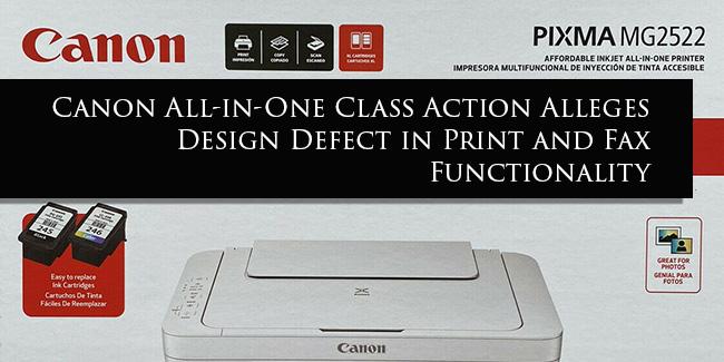 Canon Printer Lawsuit