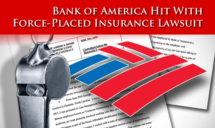 Force-Placed Insurance Lawsuit Brought Against Bank of America