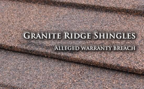 granite-ridge-shingles-breach-of-warranty