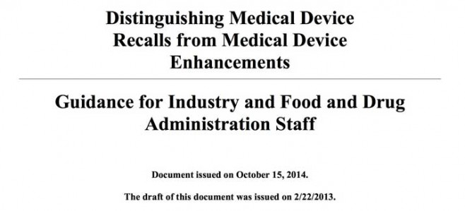 Medical Device Guidance
