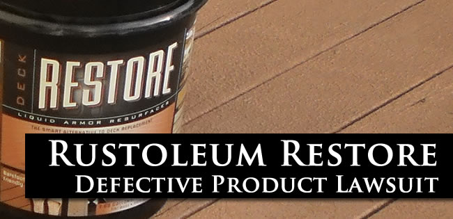 Rustoleum Restore Defective Product Lawsuit