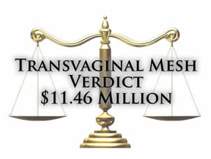 Transvaginal Mesh Punitive Damages Verdict